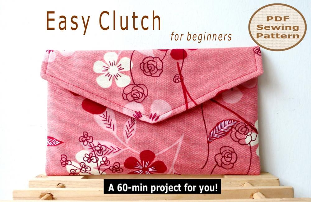 Easy Clutch - Pdf Sewing Pattern on Luulla